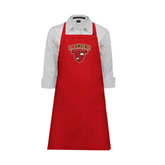 Full Length Red Apron-Official Logo
