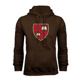 Brown Fleece Hoodie-Official Shield