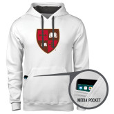 Contemporary Sofspun White Hoodie-Official Shield