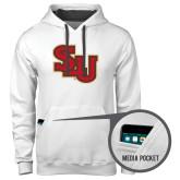Contemporary Sofspun White Hoodie-SLU