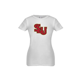 Youth Girls White Fashion Fit T Shirt-SLU