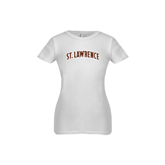 Youth Girls White Fashion Fit T Shirt-Arched St. Lawrence
