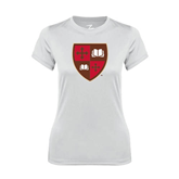 Ladies Syntrel Performance White Tee-Official Shield