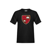 Youth Black T Shirt-Official Shield