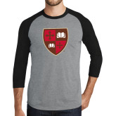 Grey/Black Tri Blend Baseball Raglan-Official Shield
