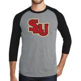 Grey/Black Tri Blend Baseball Raglan-SLU