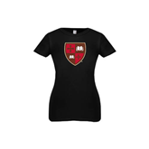 Youth Girls Black Fashion Fit T Shirt-Official Shield