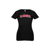 Youth Girls Black Fashion Fit T Shirt-Arched St. Lawrence