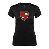 Ladies Syntrel Performance Black Tee-Official Shield