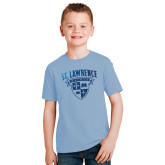 Youth Light Blue T Shirt-Saints Shield Foil