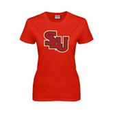 Ladies Red T Shirt-SLU