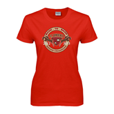 Ladies Red T Shirt-Back to back Riding Champions 2012-2013