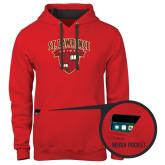 Contemporary Sofspun Red Hoodie-Official Logo