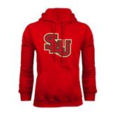 Red Fleece Hoodie-SLU