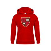 Youth Red Fleece Hoodie-Official Shield