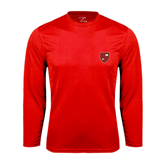 Performance Red Longsleeve Shirt-Official Shield