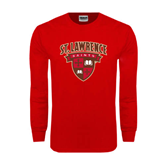 Red Long Sleeve T Shirt-Official Logo