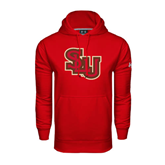 Under Armour Red Performance Sweats Team Hoodie-SLU