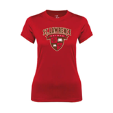 Ladies Syntrel Performance Red Tee-Official Logo