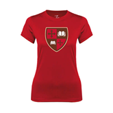 Ladies Syntrel Performance Red Tee-Official Shield