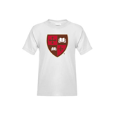 Youth White T Shirt-Official Shield