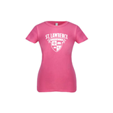 Youth Girls Fuchsia Fashion Fit T Shirt-Official Logo