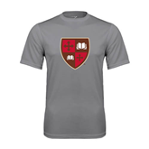 Performance Grey Concrete Tee-Official Shield