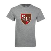 Grey T Shirt-SLU Shield