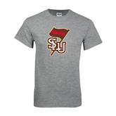 Grey T Shirt-SLU Flag