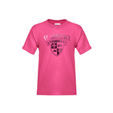 Youth Cyber Pink T Shirt-Saints Shield Foil