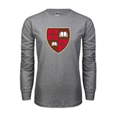 Grey Long Sleeve T Shirt-Official Shield