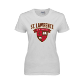 Ladies White T Shirt-Official Logo