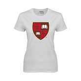 Ladies White T Shirt-Official Shield