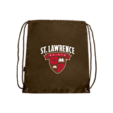 Brown Drawstring Backpack-Official Logo