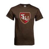 Brown T Shirt-SLU Shield