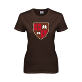 Ladies Brown T Shirt-Official Shield