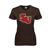 Ladies Brown T Shirt-SLU