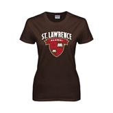 Ladies Brown T Shirt-Alumni