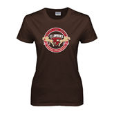 Ladies Brown T Shirt-Back to back Riding Champions 2012-2013