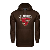 Under Armour Brown Performance Sweats Team Hoodie-Official Logo