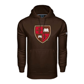 Under Armour Brown Performance Sweats Team Hoodie-Official Shield