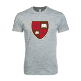 Next Level SoftStyle Heather Grey T Shirt-Official Shield