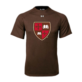 Under Armour Brown Tech Tee-Official Shield