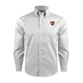 Red House White Long Sleeve Shirt-SLU Shield