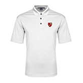 White Performance Fine Jacquard Polo-Official Shield