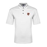 White Performance Fine Jacquard Polo-SLU Shield