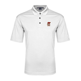 White Performance Fine Jacquard Polo-SLU Flag