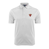 White Dry Mesh Polo-Official Logo