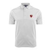 White Dry Mesh Polo-Official Shield