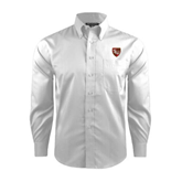 Red House White Dobby Long Sleeve Shirt-SLU Shield